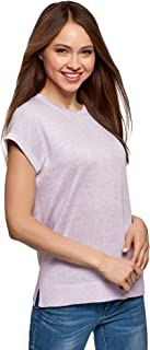 oodji Ultra Women's Relaxed-Fit Crew Neck Knit T-Shirt