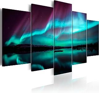 murando Quadro Aurora boreale 200x100 Stampa su tela in TNT XXL Immagini moderni Murale Fotografia Grafica Decorazione da ...