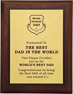aahs!! Engraving Worlds Greatest Plaques (Best Dad in The World, Gold)
