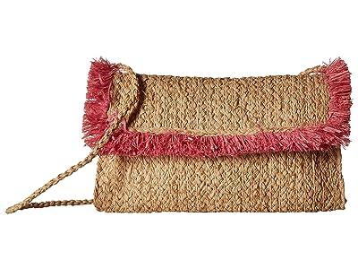 Hat Attack Fringe Clutch (Pink) Clutch Handbags