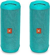 JBL Flip 4 Waterproof Portable Wireless Bluetooth Speaker Bundle - (Pair) Teal