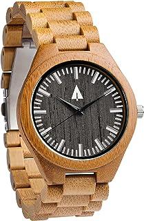 Treehut Men's Wooden Watch with All Wood Strap Quartz Analog Classic Design Wrist Watch