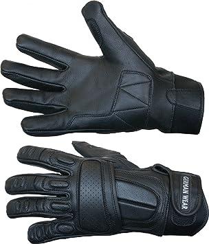 German Wear Motorradhandschuhe Motorrad Biker Handschuhe Lederhandschuhe Schwarz Size 10 Xl Auto