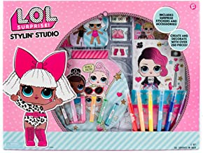 L.O.L. Surprise! Stylin' Studio by Horizon Group USA,Decorate LOL Surprise Paper Dolls With 250+ Accessories,Includes DIY Activity Book, Scratch Art,Sticker Sheet,Coloring Pages,Markers,Crayons & More