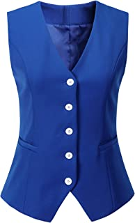 Vocni Women's Fully Lined 5 Button V-Neck Economy Dressy...
