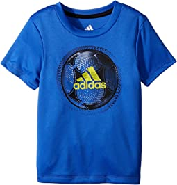 adidas Kids Optic Sport Ball Tee (Toddler/Little Kids)