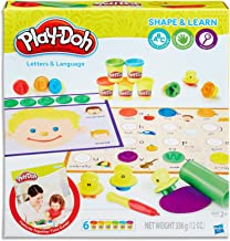 Play-Doh - Shape & Learn - Letters & Language inc 6 Tubs of Dough & acc - Creative Kids Toys - Ages 2+