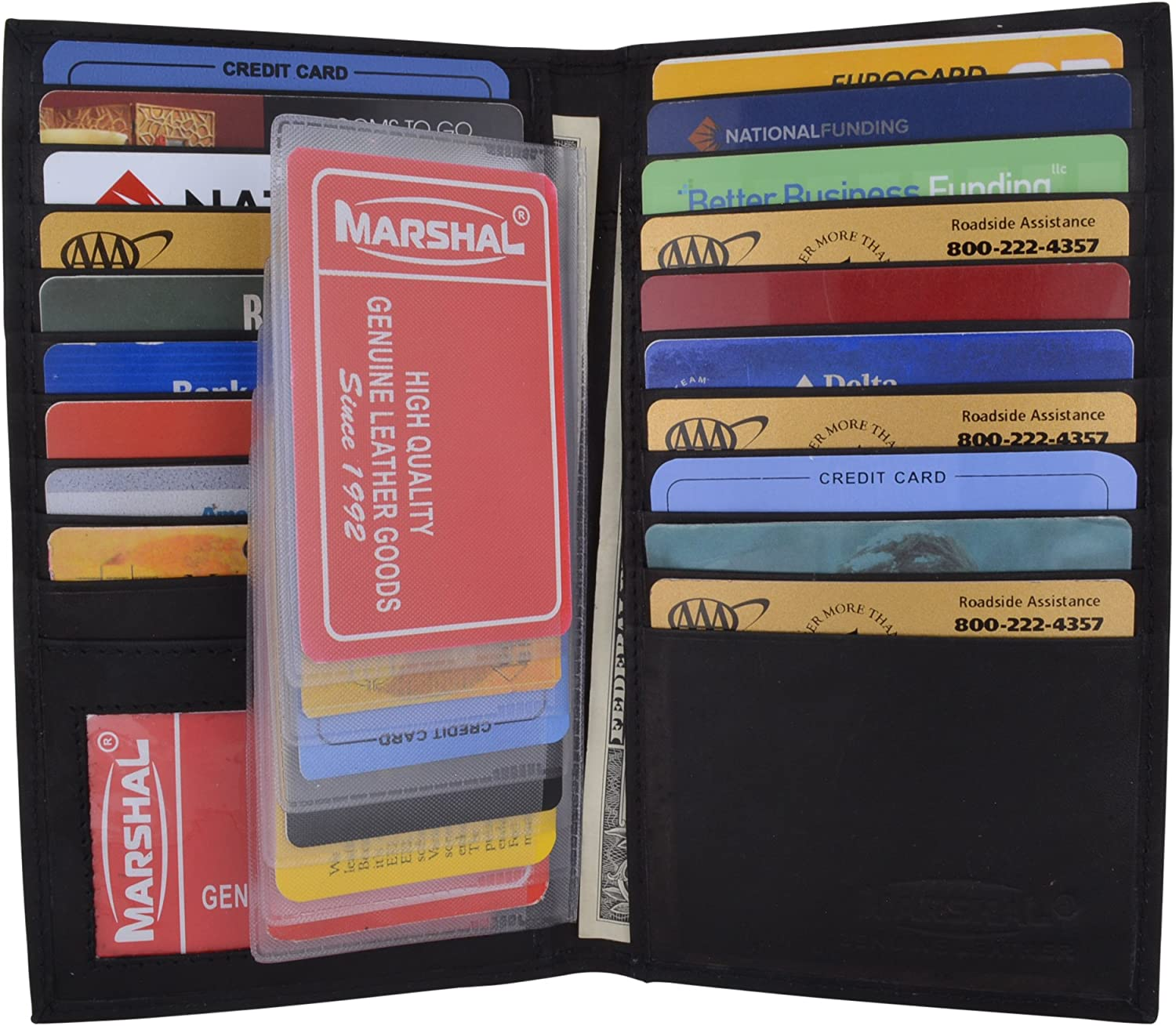 Mens Genuine Leather Deluxe Multi Credit Card Case ID Holder Wallet