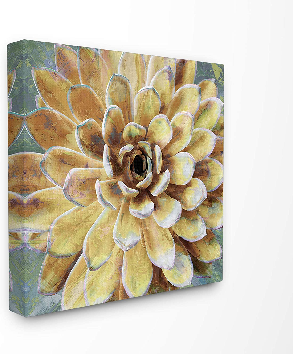 Stupell Industries Home Yellow Botanical Succulent Bloom Painting Stretched Canvas Wall Art, Multicolor