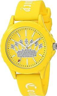 Juicy Couture Black Label - Reloj de pulsera para mujer con correa con purpurina