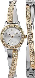 Women's Swarovski Crystal 23mm Watch & Bracelet Gift Set