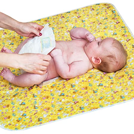 "Baby Portable Changing Pad - Diaper Change Pad Large Size (25.5""x31.5"") - Waterproof Diaper Changing Mat for Girls Boys Newborn - Multi-function Storage Bag"