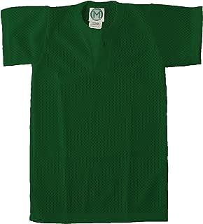 EMC Sports Unisex Two Button Youth Mesh jersey, Dark Green, Medium