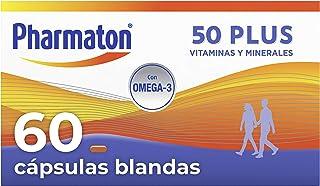 Pharmaton 50+ - Multivitamínico con Omega 3 - 60 cápsulas - Ayuda a mantener la energía a partir de los 50 años