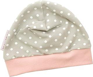 Kleine Könige Mütze Baby Mädchen Beanie  Mitwachs-Funktion  Modell Punkte beige rosa  Ökotex 100 Zertifiziert  Größen 50-104