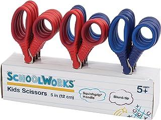 Schoolworks Blunt Kids Scissors Classpack of 12, 5 Inch