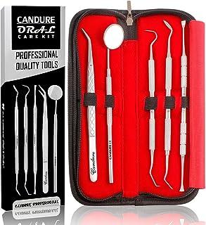 دندان سفید کننده دندان Floss دندانپزشکی کیت بهداشتی حساب کاربری و دندانپزشکی تنظیم کننده دندانپزشک انتخاب ابزار Scaler دندانپزشکی آینه موچین 5 قطعه دندانپزشکی مجموعه
