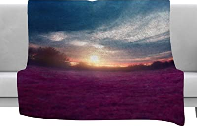 Kess InHouse Cyndi Steen Mauve Sunset Pink Nature Throw 80 x 60 Fleece Blanket