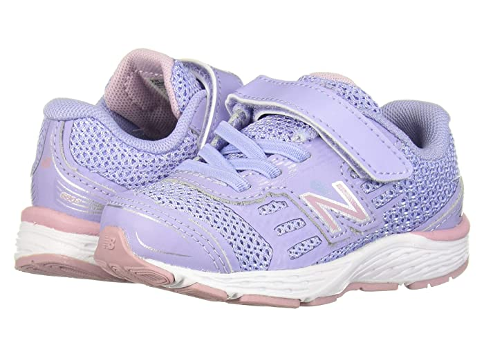 New Balance Kid/'s Hook And Loop 680V5 Infant Running Shoes Blue With Pink