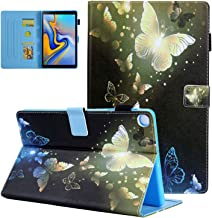 UGOcase Samsung Galaxy Tab A 10.1 2019 Case, PU Leather Folding Stand Folio Cover with Pen Holder, Card Pocket Cute Cover for Galaxy Tab A 10.1 Inch SM-T510/SM-T515 2019 Release, Gold Butterfly