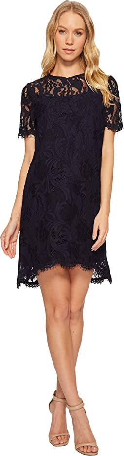 Tahari by ASL All Over Lace Shift Dress