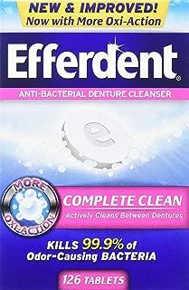 Efferdent Original Anti-Bacterial Denture Cleanser Tablets 126 ea (Pack of 3)
