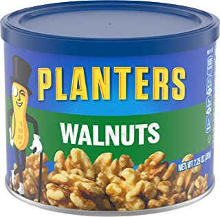 Planters Unsalted Walnuts, 7.25 Ounce (Pack of 3)