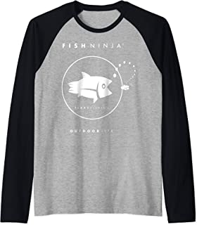 Cool Fishing Shirt Raglan Baseball Tee