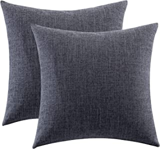Gemto Pack of 2 Decorative Linen Throw Pillow Covers, Modern Cushion Case Pillowcase for Couch Sofa Bedroom with Hidden Zi...