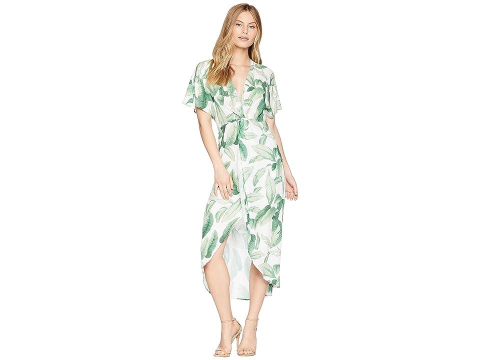 Show Me Your Mumu Zip Twisted Maxi Dress (Palmtini) Women