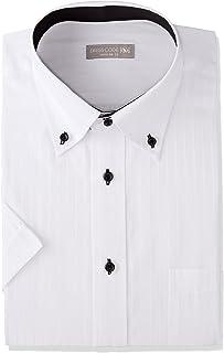 [ドレスコード101] ワイシャツ 半袖 (形態安定) 衿立ちがいい 選べる10デザイン (綿混素材だから着心地やわらか) 形状記憶 SHDH21 メンズ