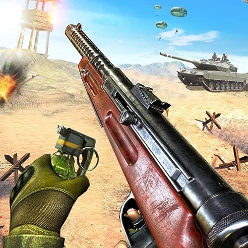 Weltkrieg-Schlachtfeld-Frontlinienschießen-Spiel