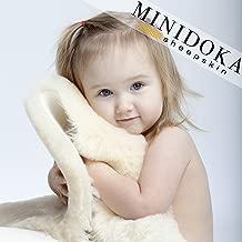 XL Australian Lambskin Baby Rug, Cornsilk Cream Color, 100% Natural, 37+ inches Long, Premium Quality, Plush Silky Soft Wool, by Minidoka Sheepskin