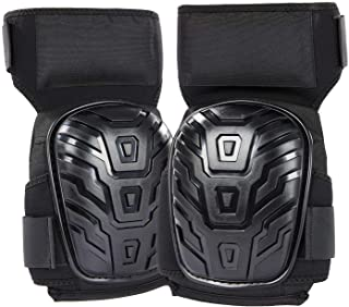 ひざパット 作業用 快適なゲルクッション構造 LESHIELD ひざサポーター 厚手 滑り止め フォーム ニーパッド ガーデニング、フローリング作業用 両膝セット