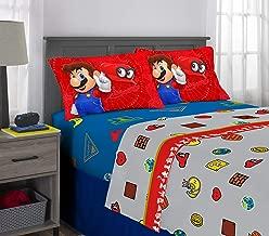 Franco Kids Bedding Super Soft Sheet Set, 4 Piece Full Size, Mario Odyssey