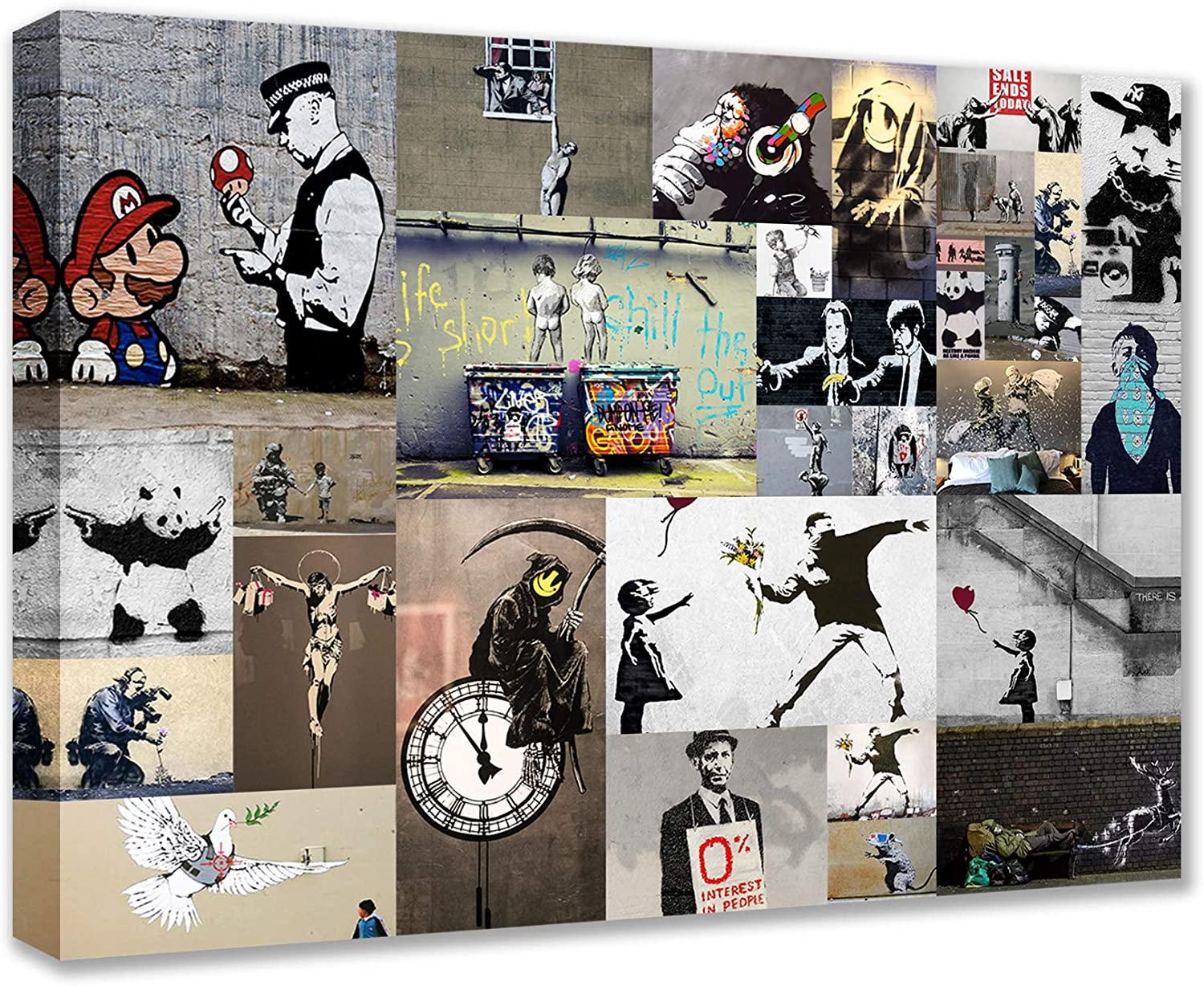Outstanding Tucocoo Banksy Graffiti price Pictures Street Ca Piece Paintings 1 Art