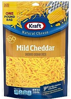 Kraft Natural Shredded Mild Cheddar Cheese (16 oz Bag)