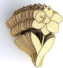 10/x in legno a forma di girasole Flower Head Craft 3/mm ply piante da giardino natura X-Small 6cm x 6cm Natural-Centre Hole
