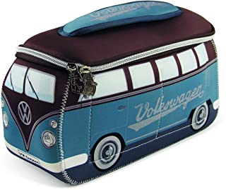 BRISA VW Collection - Volkswagen Samba Bus T1 Camper Van 3D Neoprene Universal Bag - Makeup, Travel, Cosmetic Bag (Neoprene/VW Bus T1 Design)