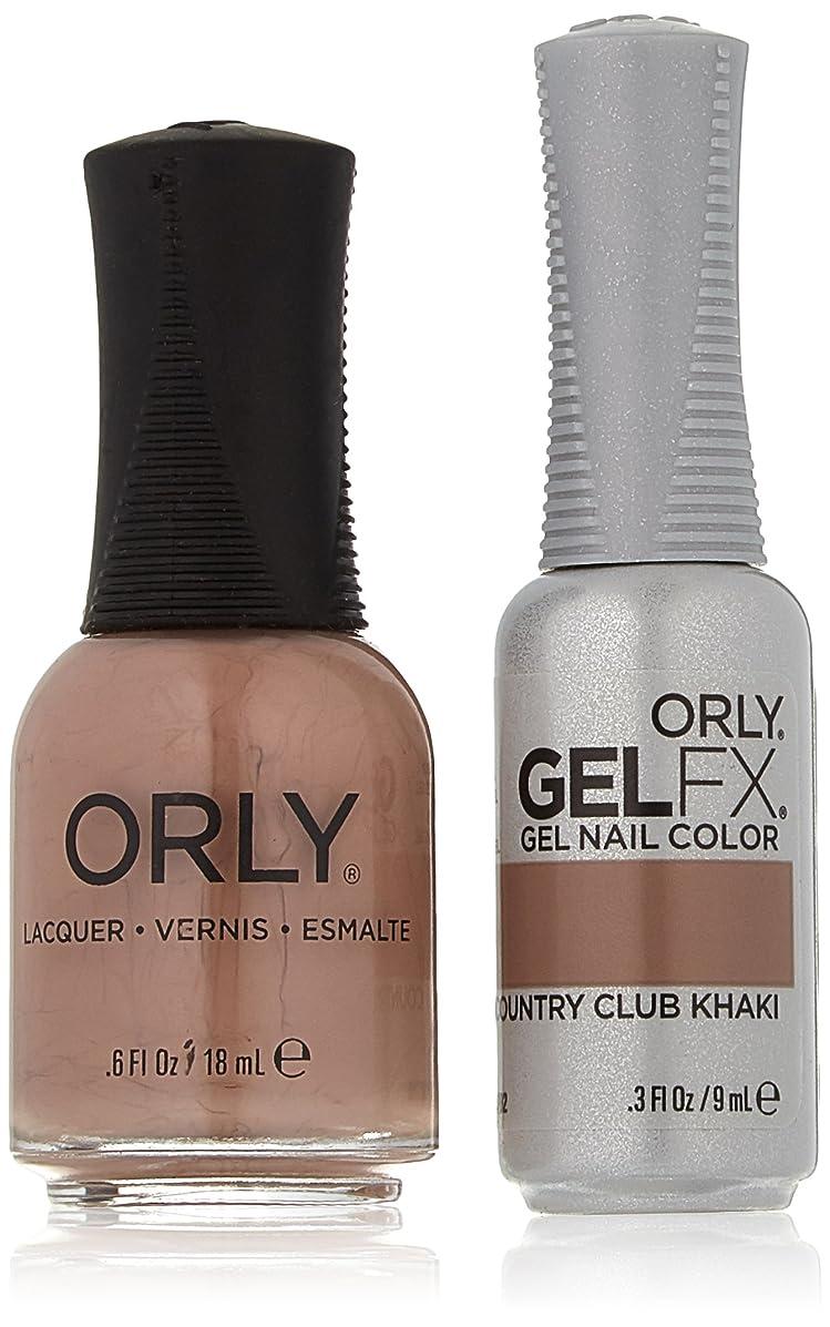 幸運戸棚モバイルOrly Nail Lacquer + Gel FX - Perfect Pair Matching DUO - Country Club Khaki