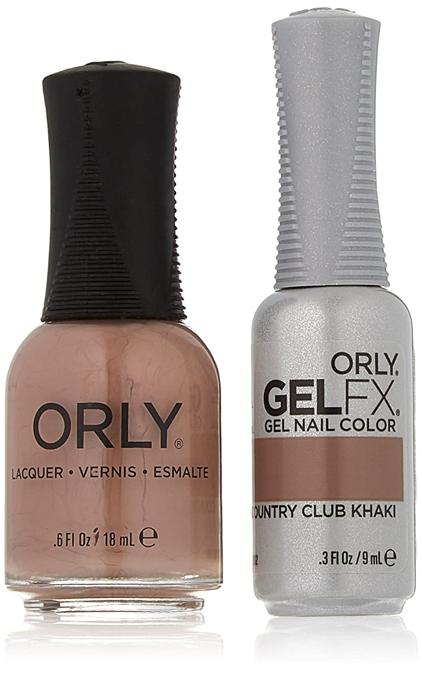 寄生虫レンダリング意気消沈したOrly Nail Lacquer + Gel FX - Perfect Pair Matching DUO - Country Club Khaki