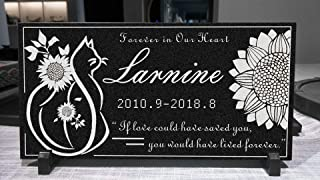 Custom Personalized Pet Dog Cat Marble Memorial Stone Tombstone Gravestone Sympathy Remembrance Gift (12
