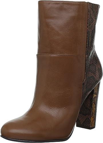 Nine West Nwjusthang-Leather, Bottines femme femme femme - Marron Dknat Dkbrn), 39 EU (8.5 US) 9c2