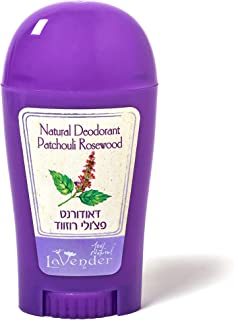 All Natural and Vegan Deodorant Stick for Men and Women, Aluminum Free with uplifting Rosewood Patchouli Essential Oils Blend With Shea Butter and Coconut Oil by LaVender 100% Natural, 1.75fl. Oz