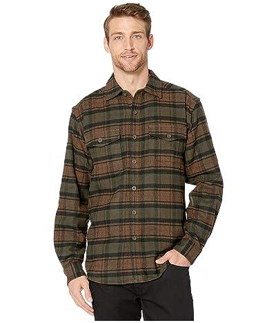 Wolverine Heritage Blake Flannel Shirt (Dark Olive Plaid) Men