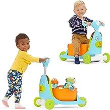 سكوتر للاولاد من سكيب هوب 3 في 1 سكوتر ركوب وعربة العاب