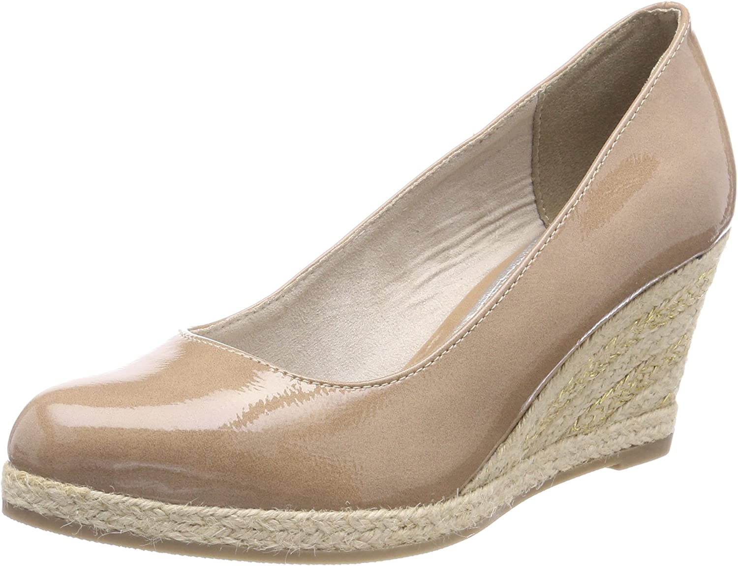 Marco Tozzi Women's Candy Nude Patent Wedge Court shoes