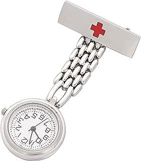 ShoppeWatch Nurse Fob Watch for Women Lapel Pin Easy Read Watch NW-236
