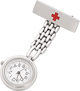 ShoppeWatch Nurse Fob Watch for Women Lapel Pin Easy Read Watch NW-236