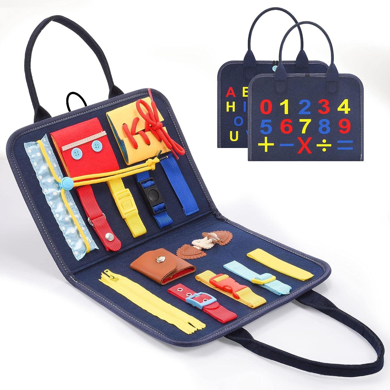 BOXYUEIN Plegable Busy Board, Juguetes Educativos para Aprender a Habilidades Básicas - Juguetes y Regalos